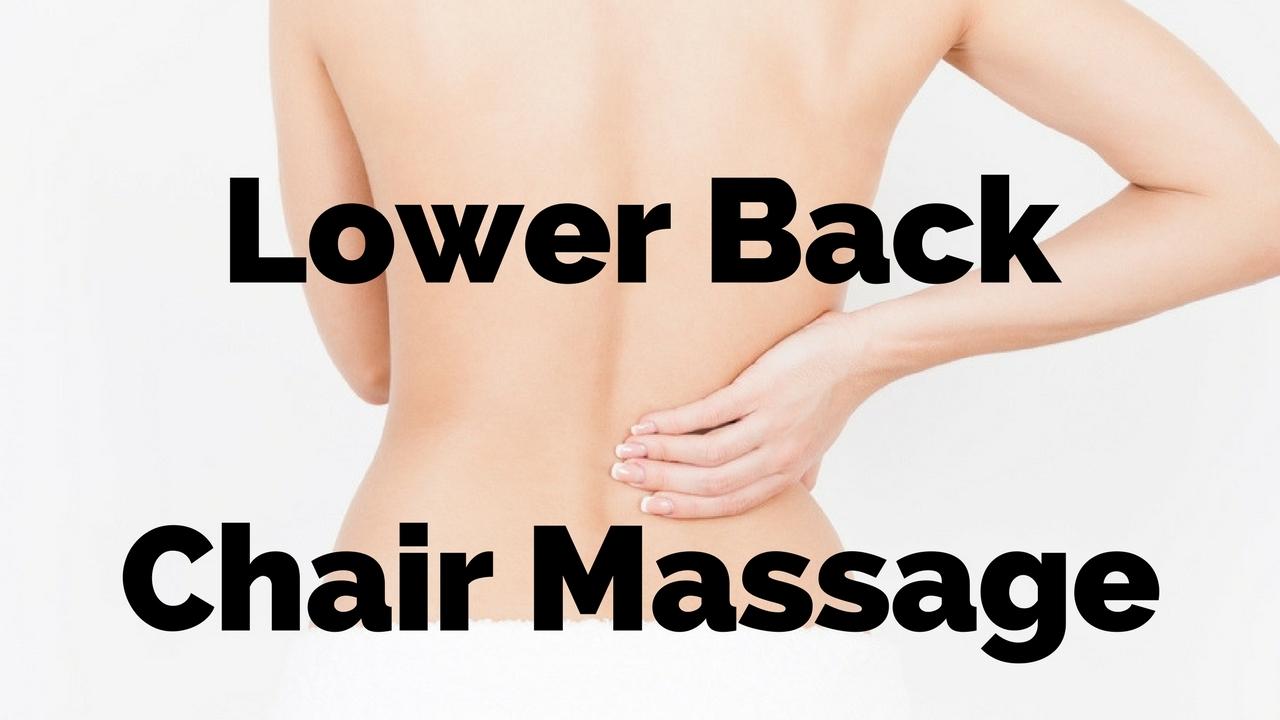massage monday lower back chair massage