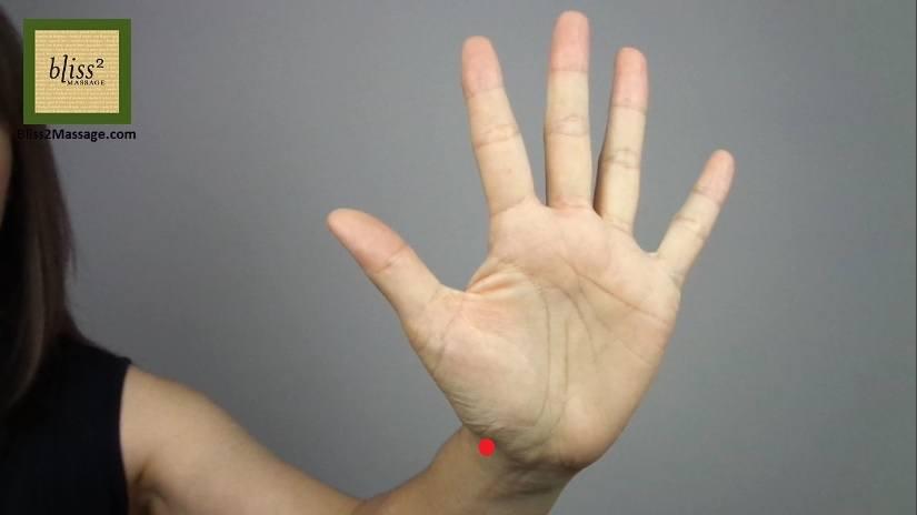 太淵 Lung 9 LU 9 acupressure point