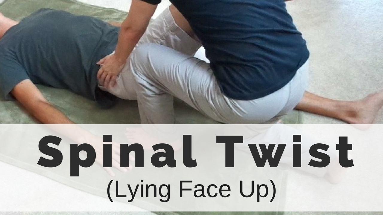 massage monday couples massage spinal twist lying face up