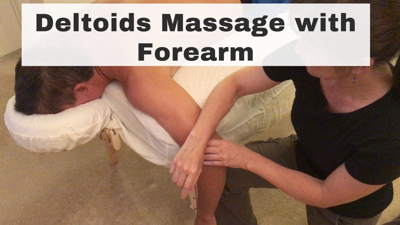 Massage Monday how to massage deltoids with forearm